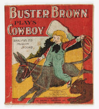Buster Brown Muslin Series ...Plays Cowboy (Saalfield Publishing Co., 1907) Condition: VG