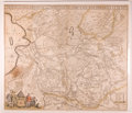 "Books:Maps & Atlases, Nicolaas ten Have. Copper Engraved Map ""Transisalania Provincia Vulgo Over-Yssel Auctore N. Ten Have Emendata A F. De Wit"", Ci..."