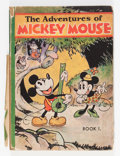 Platinum Age (1897-1937):Miscellaneous, Adventures of Mickey Mouse Book 1 Hardcover Edition (David McKay Publications, 1931) Condition: GD....