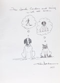 Books:Science Fiction & Fantasy, [Original Drawing]. Charles Addams. Favorite Haunts. NewYork: Simon and Schuster, [1976]. Book club edition. Sign...