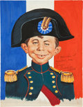 Original Comic Art:Miscellaneous, John Putnam Alfred E. Neuman as Napoleon PreliminaryOriginal Art (undated)....