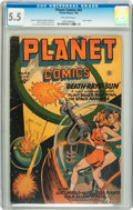 Golden Age (1938-1955):Science Fiction, Planet Comics #43 (Fiction House, 1946) CGC FN- 5.5 Off-whitepages....