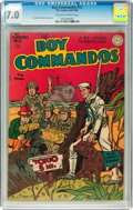 Golden Age (1938-1955):War, Boy Commandos #12 (DC, 1945) CGC FN/VF 7.0 Off-white to whitepages....