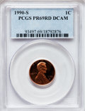 Proof Lincoln Cents, 1990-S 1C PR69 Red Deep Cameo PCGS. PCGS Population (3189/100). NGCCensus: (634/73). Numismedia Wsl. Price for problem fr...