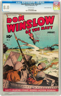 Golden Age (1938-1955):War, Don Winslow of the Navy #11 Crowley Copy/File Copy (Fawcett, 1944)CGC VF 8.0 Off-white pages....