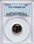 Proof Roosevelt Dimes: , 1975-S 10C PR69 Deep Cameo PCGS. PCGS Population (3662/31). NGCCensus: (38/0). Numismedia Wsl. Price for problem free NGC...