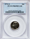 Proof Roosevelt Dimes: , 1976-S 10C PR69 Deep Cameo PCGS. PCGS Population (4577/84).Numismedia Wsl. Price for problem free NGC/...
