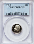 Proof Roosevelt Dimes: , 1978-S 10C PR69 Deep Cameo PCGS. PCGS Population (4915/327). NGCCensus: (325/41). Numismedia Wsl. Price for problem free ...