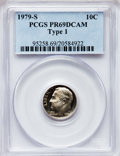 Proof Roosevelt Dimes: , 1979-S 10C Type One PR69 Deep Cameo PCGS. PCGS Population(4683/282). Numismedia Wsl. Price for problem...