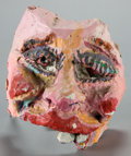 Other:American, DAVID BATES (American, b. 1952). Mask, circa 1975. Papiermache and acrylic. 10 x 9 x 8 inches (25.4 x 22.9 x 20.3 cm). ...