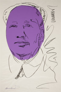 ANDY WARHOL (American, 1928-1987) Mao, 1974 Color silkscreen 40 x 26-1/2 inches (101.6 x 67.3 cm)