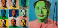 Fine Art - Work on Paper:Print, After ANDY WARHOL (American, 1928-1987). Mao Tse-Tung(announcement card), 1972. Photographic reproduction . 7 x13-3/4 ...