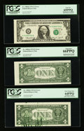 Error Notes:Error Group Lots, Fr. 1908-K $1 1974 Federal Reserve Notes. Four Examples. PCGS VeryChoice New 64PPQ-Gem New 66PPQ.. ... (Total: 4 notes)