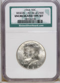 Kennedy Half Dollars: , 1964 50C Uncirculated NGC. Binion #2136 of 2500. NGC has not givena grade to this piece, but we believe it grades MS63....