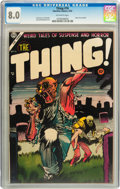 Golden Age (1938-1955):Horror, The Thing! #16 (Charlton, 1954) CGC VF 8.0 Off-white pages....
