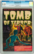 Golden Age (1938-1955):Horror, Tomb of Terror #6 (Harvey, 1952) CGC VF 8.0 Cream to off-whitepages....