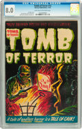 Golden Age (1938-1955):Horror, Tomb of Terror #12 (Harvey, 1953) CGC VF 8.0 Light tan to off-whitepages....