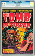 Golden Age (1938-1955):Horror, Tomb of Terror #15 (Harvey, 1954) CGC FN- 5.5 Off-white pages....