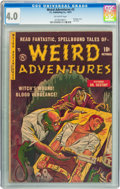 Golden Age (1938-1955):Horror, Weird Adventures #3 (P.L. Publishing Co., 1951) CGC VG 4.0Off-white pages....