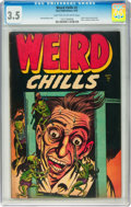 Golden Age (1938-1955):Horror, Weird Chills #2 (Key Publications, 1954) CGC VG- 3.5 Light tan tooff-white pages....