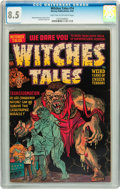 Golden Age (1938-1955):Horror, Witches Tales #14 (Harvey, 1952) CGC VF+ 8.5 Light tan to off-whitepages....