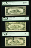 Error Notes:Error Group Lots, Fr. 2023-G $10 1977 Federal Reserve Note. PCGS About New 50PPQ;.Fr. 2025-C $10 1981 Federal Reserve Notes. Two Examples. PCGS...(Total: 3 notes)