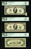 Error Notes:Error Group Lots, Fr. 2015-B $10 1950E Federal Reserve Note. PCGS Apparent ExtremelyFine 40; Fr. 2019-A $10 1969A Federal Reserve Note. PCGS Ap...(Total: 3 notes)
