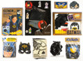Memorabilia:Superhero, Batman Costume and Accessory Playset Group (1960s-90s)....