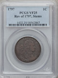 Large Cents, 1797 1C Reverse of 1797, Stems VF25 PCGS. S-140, B-22, R.1....