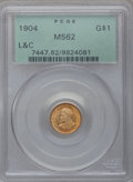 Commemorative Gold, 1904 G$1 Lewis and Clark MS62 PCGS....