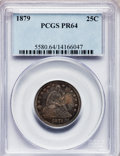 Proof Seated Quarters, 1879 25C PR64 PCGS....