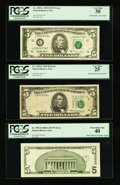 Error Notes:Error Group Lots, Fr. 1969-E $5 1969 Federal Reserve Note. PCGS Very Fine 25;. Fr.1985-L $5 1995 Federal Reserve Note. PCGS Very Fine 30;. Fr. ...(Total: 3 notes)