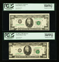 Error Notes:Miscellaneous Errors, Fr. 2072-D $20 1977 Federal Reserve Note. PCGS Choice About New 58PPQ; Fr. 2073-L $20 1981 Federal Reserve Note. PCGS Choice A... (Total: 2 notes)