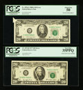 Error Notes:Error Group Lots, Fr. 2072-B $20 1977 Federal Reserve Note. PCGS Very Fine 35PPQ. Fr.2076-G $20 1988A Federal Reserve Note. PCGS About New 50....(Total: 2 notes)