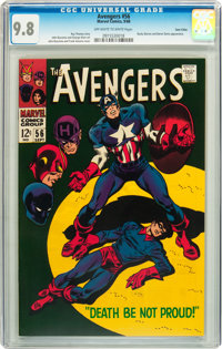 The Avengers #56 Twin Cities pedigree (Marvel, 1968) CGC NM/MT 9.8 Off-white to white pages