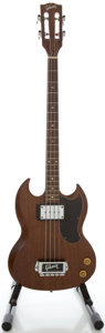Musical Instruments:Bass Guitars, Early 1970's Gibson EB-0 Refinished Electric Bass Guitar, Serial #919227....