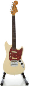 Musical Instruments:Electric Guitars, 1966 Fender Mustang White Solid Body Electric Guitar, Serial#107489....