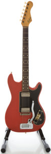 Musical Instruments:Electric Guitars, 1960's Hofner Red Solid Body Electric Guitar....