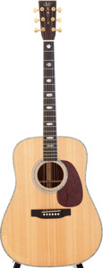 Musical Instruments:Acoustic Guitars, 1997 Martin D-41 Natural Acoustic Guitar, Serial # 592912....