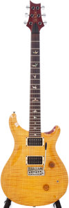 Musical Instruments:Electric Guitars, 1990 Paul Reed Smith Custom Amber Electric Guitar, Serial # 0 9053....