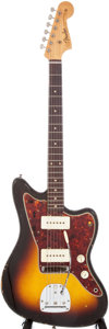 Musical Instruments:Electric Guitars, 1961 Fender Jazzmaster Sunburst Electric Guitar, Serial # 58318....