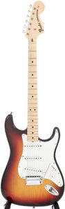 Musical Instruments:Electric Guitars, 1971 Fender Stratocaster Sunburst Electric Guitar, Serial #323099....