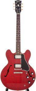 Musical Instruments:Electric Guitars, 1960 Gibson ES-335 TDC Cherry Semi-Hollow Electric Guitar, Serial #A 35212....