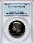 Proof Kennedy Half Dollars: , 1973-S 50C PR69 Deep Cameo PCGS. PCGS Population (4899/17). NGCCensus: (85/0). Numismedia Wsl. Price for problem free NGC...