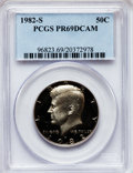 Proof Kennedy Half Dollars: , 1982-S 50C PR69 Deep Cameo PCGS. PCGS Population (3671/111). NGCCensus: (818/54). Numismedia Wsl. Price for problem free ...