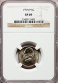 Jefferson Nickels, 1994-P 5C SP69 NGC. NGC Census: (643/86). PCGS Population (120/0).Numismedia Wsl. Price for problem free NGC/PCGS coin in...