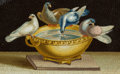 Paintings, AN ITALIAN MICROMOSAIC PLAQUE: DOVES OF PLINY . Circa 1850-1880. 1-3/8 x 2-1/8 inches (3.4 x 5.4 cm). ...