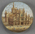 Decorative Arts, Continental:Other , AN ITALIAN MICROMOSAIC PLAQUE: THE DUOMO . Circa 1850-1880.7/8 inch diameter (2.3 cm). ...