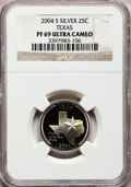 Proof Statehood Quarters, 2004-S 25C Texas Silver PR69 Ultra Cameo NGC. PCGS Population(7804/382). Numismedia Wsl. Price for pro...