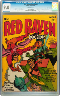 Red Raven Comics #1 Billy Wright pedigree (Timely, 1940) CGC VF/NM 9.0 Off-white pages